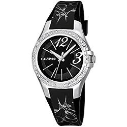 Calypso watches Damen-Armbanduhr XS K5624 Analog Quarz Plastik K5624/3