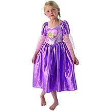 Disney Princess - Disfraz Rapunzel Enredados (Rapunzel) para niña, talla S, para 3 - 4 años (Rubies 610281S)
