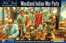French Indian War: Woodland Indians War Party