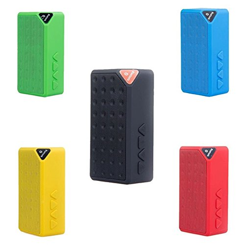 JSGJYX Bluetooth Lautsprecher 1 PSC Mini X3 Bluetooth Lautsprecher Portable Wireless Handsfree TF FM Radio Eingebaute Mikrofon MP3 Subwoofer mit Abnehmbarer Akku 2017 Neue