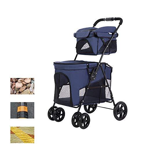 8in1 Kinderwagen Hund Haustier Doppelschicht Tragbare Atmungsaktive