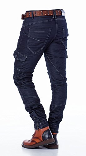 Cipo & Baxx Homme Jeans / Jeans Straight Fit Button Fly Bleu