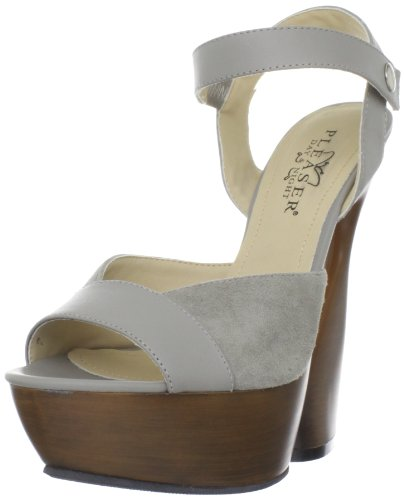 Pleaser Day & Night SWAN-612 Taupe Kid Leather-Suede UK 2 (EU 35)