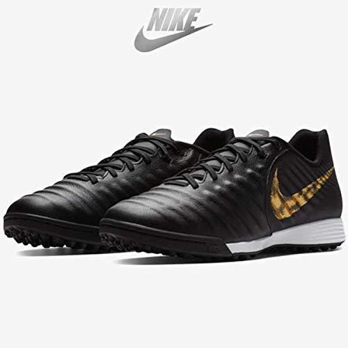 Nike Herren LegendX 7 Academy TF Fußballschuhe, Schwarz (Black/MTLC Vivid Gold 077), 39 EU