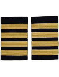 Pilot Captain, Gold Strips Epaulettes, Pilot Airline, Merchant Marine First Officer 4 Bars R103