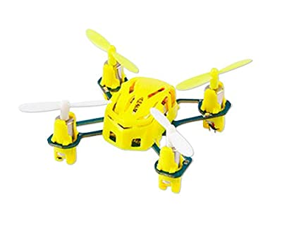 """Hubsan Original NANO Q4 H111 World's Smallest 1.8"""" Mini 2.4GHz 4CH Mode 2 50m Remote Control Gyro 360 Degree Flip LED Light RC Quadcopter Ready to Fly Toy RTF Drone - Yellow Best Gift for Valentine Birthday Christmas Thanksgiving"""