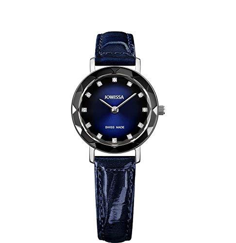 Jowissa Aura Swiss J5.645.S - Reloj de Pulsera para Mujer, Color Negro y Plateado