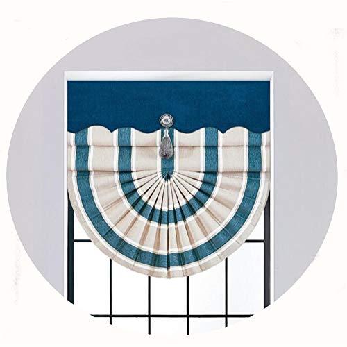 LSV-12 Römischer Vorhang Blau Gestreifte Vorhänge Atmungsaktive Verdunkelungsvorhänge Wohnzimmer Schlafzimmer Hotel Restaurant Lifting Roman Curtain (Size : 120CM*200CM) -