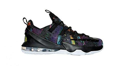 Nike Herren Lebron XIII Low Basketballschuhe, Black (Schwarz/Schwarz-Weiß-Volt), 44 EU (Lebron Schuhe Herren-nike)