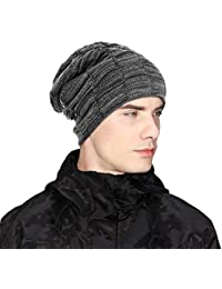 d4df62a4cfd UKLink Beanie Hat Men Women Warm Knit Hat Oversize Skull Cap Male Female  Skiing Running Hiking