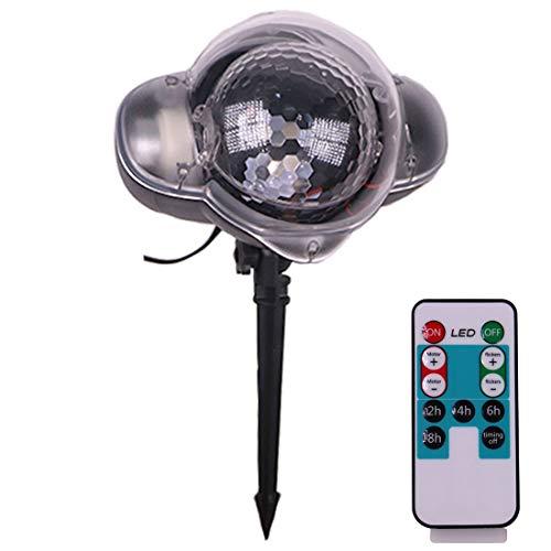 FELICIKK LED-Schneefall-Licht-Weihnachtsschnee-fallende NachtProjektor-Lichter, die Scheinwerfer-im Freien Innenlandschafts-dekorative Beleuchtung mit Fernbedienung ()