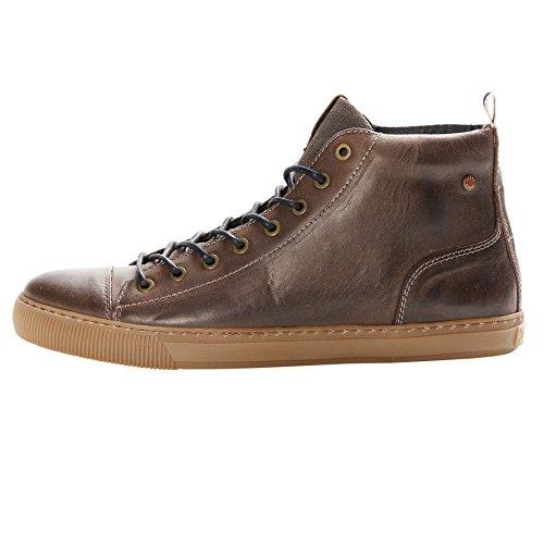 JACK JONES - Scarpe da uomo duran leather high sneaker 45 marrone