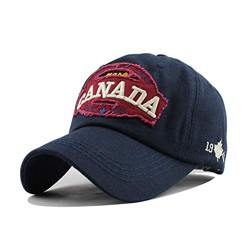 SKAMAO Baseballmütze Kanada Brief Baumwolle Stickerei Baseball Caps Hysteresenhut...