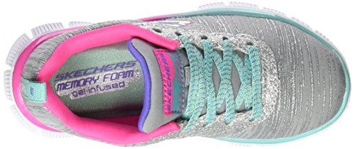 Skechers Mädchen Skech Appeal-Glitter Rush Sneakers Grau (Gymt)