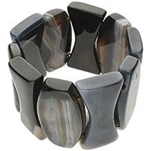 Sardonyx Armband schwarz Ø 36x22mm - Länge 19-20cm