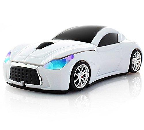spectronix Wireless Sport Racing Car mouse ottico e design ergonomico con Nano ricevitore USB 10Metri Mouse Senza Fili 2.4Ghz 1600Dpi Per Laptop E Pc 5colori vivaci