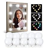 IDESION 10 Ampoules LED pour Miroir Lampe de Maquillage Lumière Réglable avec 12 Couleurs et 36 Modes Éclairage pour Coiffeuse Cosmétique Connecté en Série (Sans Connecteur Câble USB et Télécommande)
