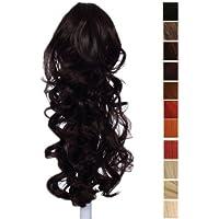 Prettyland - 60cm Extension Clip di estensione dei capelli ponytail della clip coda di cavallo ricci Haarteil- BK06