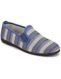 Scentra Women's Blue Canvas Moccasins ISNBS - 41
