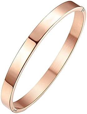 Blue Vessel Mode Aus Rostfreiem Stahl Manschette Armreif Schmuck Kristall Armband für Paar Geschenk Rose Gold