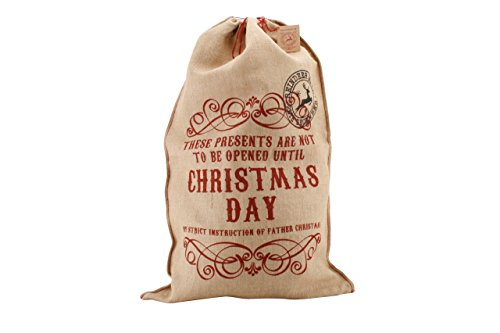 Navidad arpillera sacos Papá Noel rústico Vintage