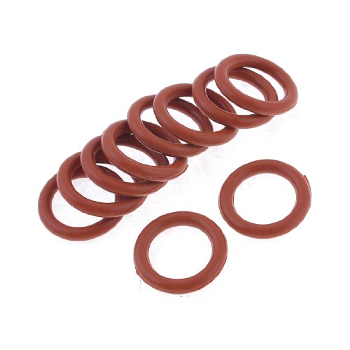 Preisvergleich Produktbild sourcingmap® 10 Stücke Industriell Zubehör 20x13x3mm Silikon O Ring Gasket Gummitüllen
