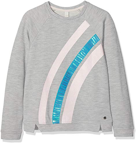 ESPRIT KIDS Mädchen Sweatshirt Silber (Heather Silver 223), Herstellergröße: 104+
