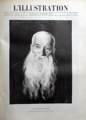 ILLUSTRATION (L') [No 2484] du 04/10/1890 - ALPHONSE KARR. TABLEAU DE M. CAROLUS DURAN. ALPHONSE KARR EUGENE DELACROIX LA CHIROMANCIE Mme CELINE MONTALAND, SON ARRESTATION SPIRITISME LES FETES DU SERPENT A WHYDAH, PAR E. CHAUDOIN NOTES ET IMPRESSIONS France. ARDECHE. DEBRIS DU PONT DE ROLLANDY RETROUVES A LA BEAUME. RUPTURE DU PONT DE LA BEGUDE. LES CULEES DU PONT DE LA BEGUDE DU VILLAGE. DESTRUCTION DES GROTTES EGYPTIENNES SUR LES BORDS DE LA VOLANE, A VALS. VUES D'AUBENAS AVANT ET PENDANT L'IN