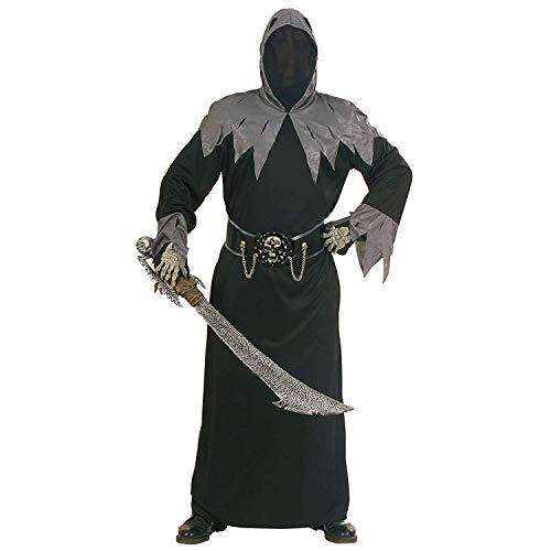Für Erwachsenen Kostüm Warlord - 24costumes Skull Warlord Kostüm |Herren Halloween Kostüm |3-teiliges Sensemann Kostüm |Verschiedene Größe: Größe: S