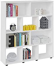 Artely Book Shelf, White - W 91 cm x D 25 cm x H 109 cm