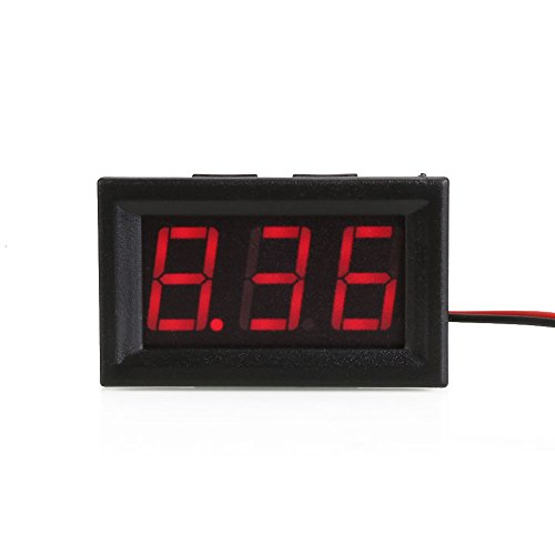 Auntwhale 1 Stück LED DC Digital Voltmeter Strom- und Spannungsmessgerät