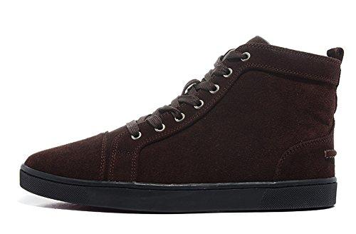 saman-sneakers-unisex-louis-orlato-veau-velours-caffe-suede-lacci-trainer-hightop-scarpe-casual-uomo