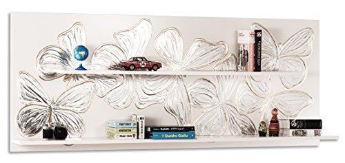 Pintdecor farfy libreria, mdf, argento/oro, 180x72x25 cm