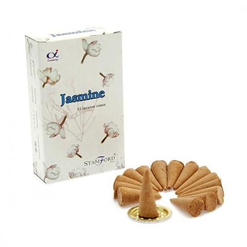 Stamford Jasmine Incense Cones, 15 Cones x 12 Packs