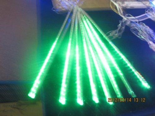 Lampada LED verde 50 centimetri Meteor Shower pioggia Kit festa di Natale della luce della decorazione del giardino