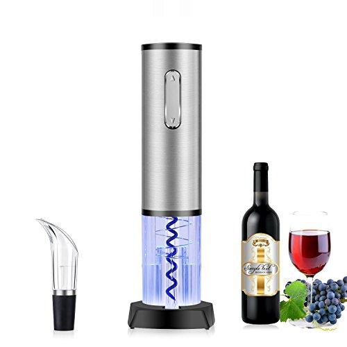 TOQIBO Sacacorchos Eléctrico Inalámbrico Multifuncional, con Cortador de Cápsula y Vertedor de Vino - Cargador USB