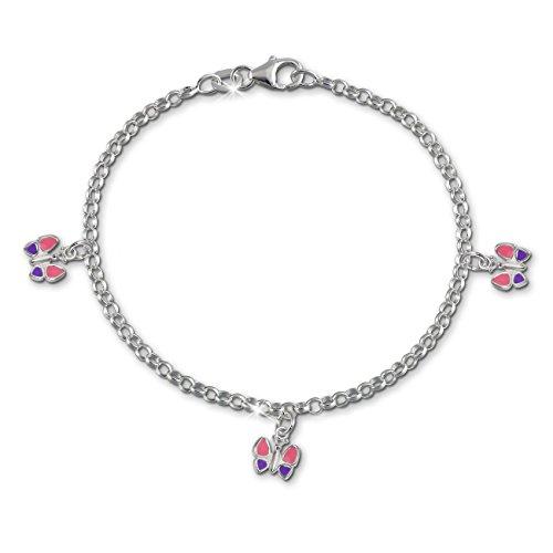 SilberDream Kinder Armband Schmetterling 925 Sterling Silber SDA011 (Mädchen Rosa Ring)