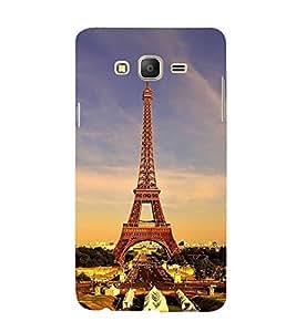 FUSON Eiffel Tower Paris Wonder 3D Hard Polycarbonate Designer Back Case Cover for Samsung Galaxy On7 Pro :: Samsung Galaxy On 7 Pro (2015)