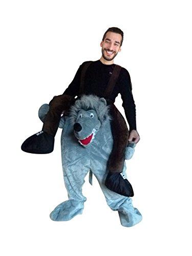 Wolf Kostüm Frau - PUS Carry-me Wolf- Kostüm-e F106 One Size, Kat. 2, Achtung: B-Ware Artikel. Bitte Artikelmerkmale lesen! Frau-en und Männer Tier-e Fasnacht-s Fasching-s Karneval-s Geburtstag-s Geschenk-e