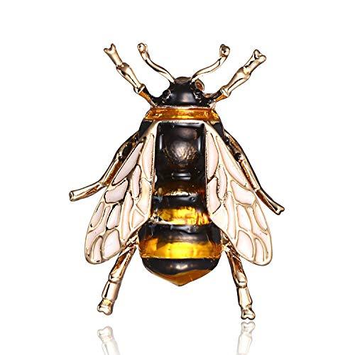 DaQao Unisex Mode Natur Insekt Marienkäfer Tier Emaille Broschen Bee Bumble Bee Spinnen-Legierung Pins Vintage-Schmuck