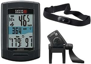 CatEye Stealth 50 Pro CC-GL50 Compteur GPS + senseurs pour vitess + cardio Noir