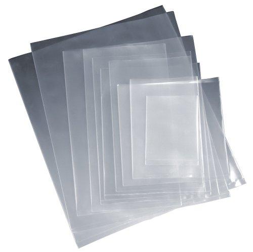 "100x transparente plástico Polietileno alimentos/para tartas/Sweet/Party/bolsa de almacenamiento, Transparente, 15"" x 20"""