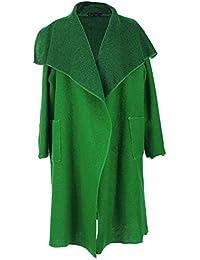 Neue Damen Frauen Italienischen Lagenlook Wasserfall 2 Fronttasche Wolle Kokon Strickjacke Jacke Mantel Coatigan Curve Plus Größen
