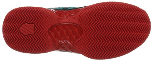 K-Swiss Performance Hypercourt Express Hb, Scarpe da Tennis Uomo Verde (Viridian Green/fiery Red)