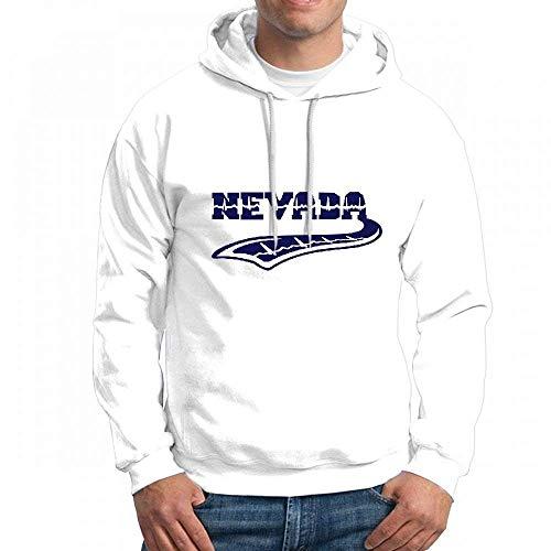 ruziniujidiangongsi Sweatshirt for Men Nevada Heart Beat Tattoo Hoodie