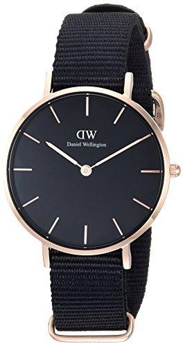 [Daniel Wellington] Daniel Wellington Reloj Ladies Classic Pettitte Cornwall negro oro rosa 32mm dw00100215[Regular importados]