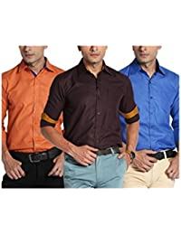 Mark Pollo London Combo Pack Of 3 Stylish Regular Shirts For Men By Mark Pollo London