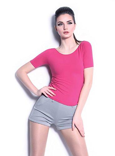 shorts tissu extensible,manchette en bas - SHORT_M2 Gris