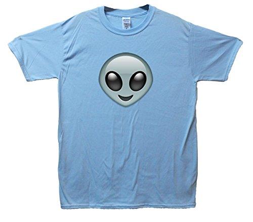 Alien Emoji T-Shirt Hellblau
