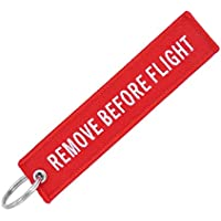 likkas Remove Before Flight Key Chain Embroidery Key Ring Key Finder For Cars Aviation Tag Key Chain Small Business Gift